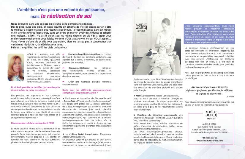 aurelie jordi , access bars, mtvss, facelift, formation de praticien access bars, methode cleen